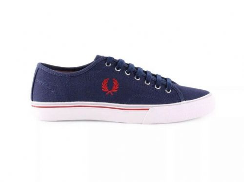 Fred Perry Women's Ridley Canvas Carbon Blue Plimsolls Pumps B6239W New UK 3.5